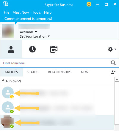 how to change your status on skype pc